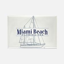 Miami Beach - Rectangle Magnet