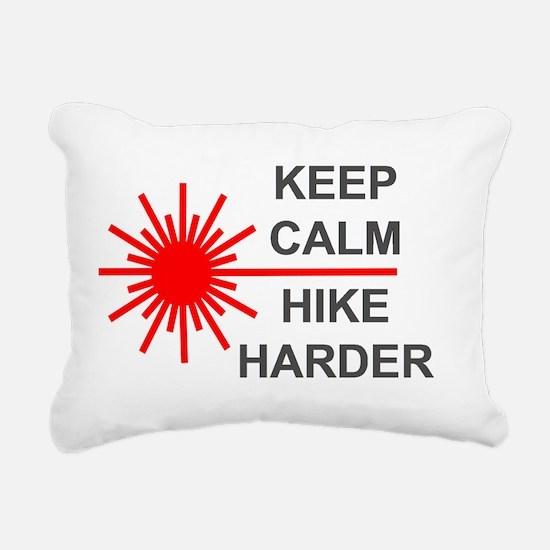 Laser Keep Calm Rectangular Canvas Pillow