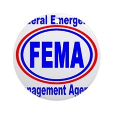 FEMA Round Ornament