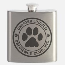 Greater Lincoln Obedience Club Logo Flask