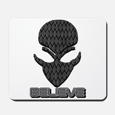 Gray Scale Believe Alien Mousepad