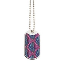 Pink and Blue Dog Tags