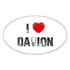 I * Davion Oval Decal