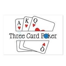 3 Card Poker Postcards (Package of 8)