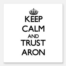 """Keep Calm and TRUST Aron Square Car Magnet 3"""" x 3"""""""