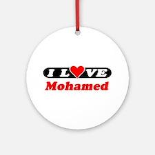 I Love Mohamed Ornament (Round)