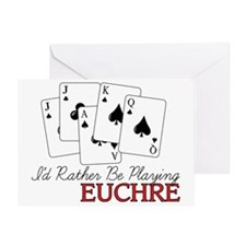 Euchre Playing Greeting Card