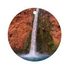 Mooney Falls and Pool Round Ornament