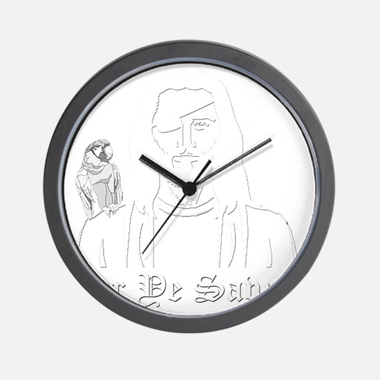 Pirate Jesus Wall Clock
