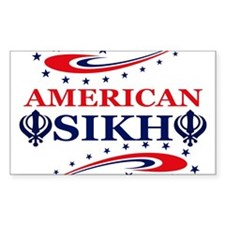 American Sikh Rectangle Decal