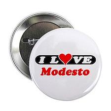 I Love Modesto Button