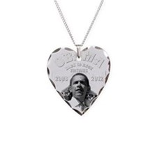 Obama Back to Back Victory Necklace Heart Charm