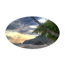 Costa Rica Beach Oval Car Magnet