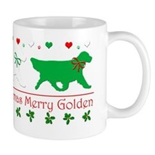 Golden Retriever CHristmas Gaiting Shir Mug