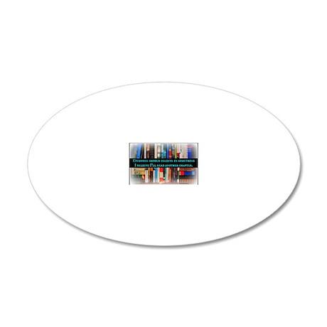 Title Wave Bookshelf 20x12 Oval Wall Decal