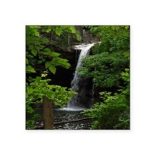 "Waterfall Bliss Square Sticker 3"" x 3"""