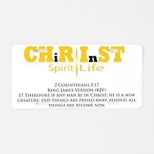 In Christ Aluminum License Plate