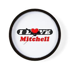I Love Mitchell Wall Clock