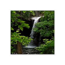 "Waterfall Bliss Square Sticker 3"" x 3"""