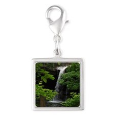 Waterfall Bliss Silver Square Charm