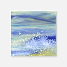"Sea Spray Shower Curtain Square Sticker 3"" x 3"""