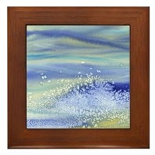 Sea Spray Shower Curtain Framed Tile