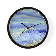 Sea Spray Shower Curtain Wall Clock