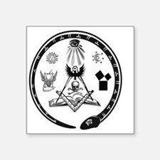 "Masonic Logo Square Sticker 3"" x 3"""