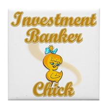 Investment Banker Chick #2 Tile Coaster