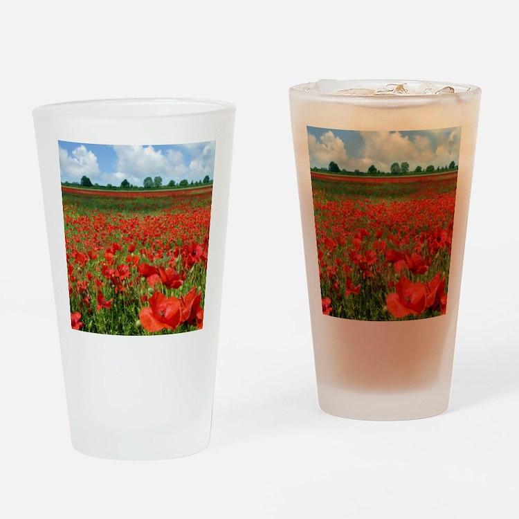 Poppy Fields Drinking Glass