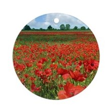 Poppy Fields Round Ornament