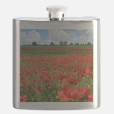 Poppy Fields Flask