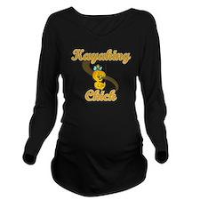 Kayaking Chick #2 Long Sleeve Maternity T-Shirt