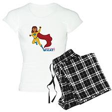 Superhero Girl Yellow and Blue Pajamas