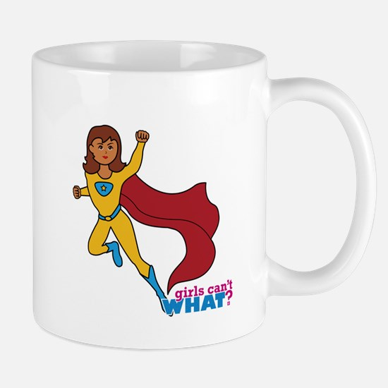 Superhero Girl Yellow and Blue Mug