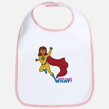 Superhero Girl Yellow and Blue Bib