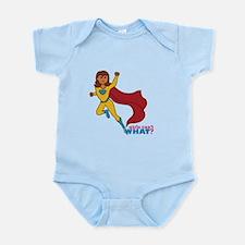 Superhero Girl Yellow and Blue Infant Bodysuit