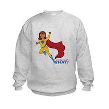 Superhero Girl Yellow and Blue Sweatshirt