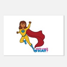 Superhero Girl Yellow and Blue Postcards (Package
