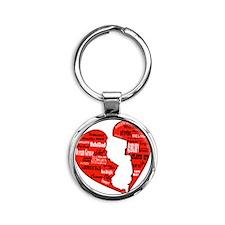 JerseyStrong Round Keychain