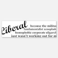 liberalexp Sticker (Bumper)