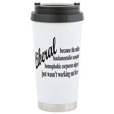 liberalexprectangle Travel Mug
