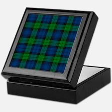 Black Watch Tartan Plaid Keepsake Box