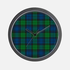 Black Watch Tartan Plaid Wall Clock