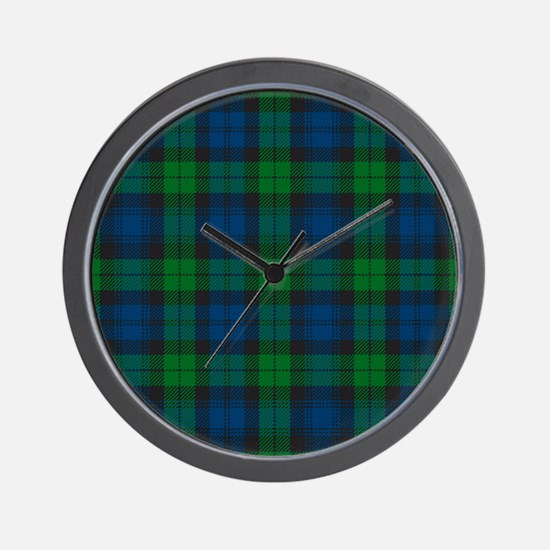 Black Watch Tartan Plaid Wall Clock