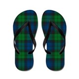 Black watch Flip Flops