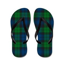 Black Watch Tartan Plaid Flip Flops