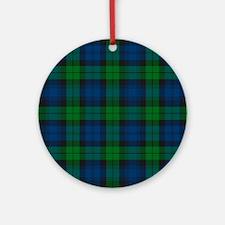 Black Watch Tartan Plaid Round Ornament