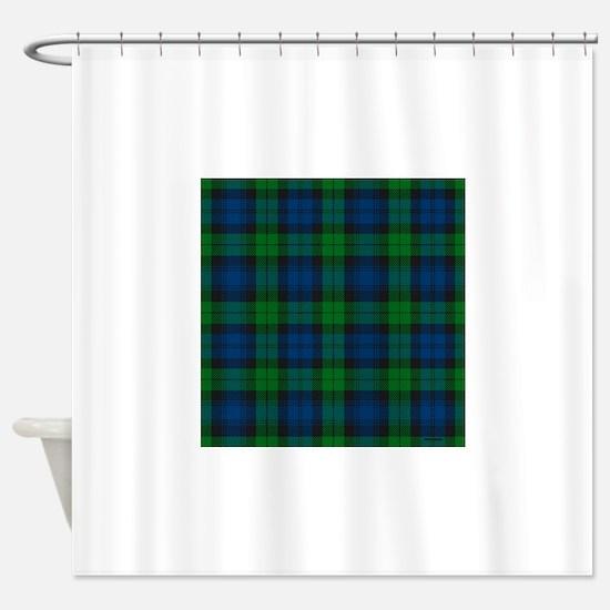 Black Watch Tartan Plaid Shower Curtain