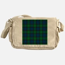 Black Watch Tartan Plaid Messenger Bag